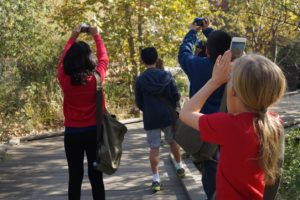 Young citizen scientists help to document wildlife in the heart of Los Angeles (Photo credit: Richard Smart)